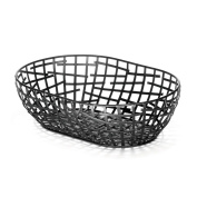 TableCraft Products BC7410 Oval Basket, 26cm x 18cm x 3, Black