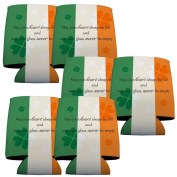"""St.Patrick's Day Can Cooler - Set of 6 - """"May your heart..."""""""