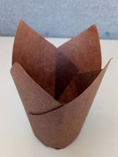 200 Brown Tulip Style Baking Cups Cupcake Liners Wrappers, Oven Safe Parchment Baking Liners. Large Size 2 3/4 - 10cm .