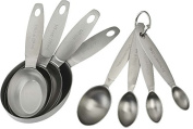 Spring Chef Measuring Cups and Spoons, Stainless Steel 8 Piece Set, Oval
