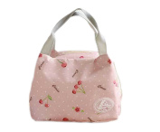 Ospard Insulation Lunch Bag Picnic Cooler Bag YWGN-2402 Pink cherry