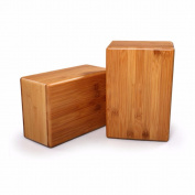 Natural High-density Bamboo Yoga Block Bricks Home Practise Fitness Gym Exercise Sport Tool