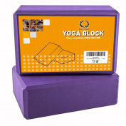 Pair of Da Vinci Yoga Blocks - High Density EVA Foam Exercise Blocks to Provide Balance, Stability, Deepen Pose & Improve Strength. 2-Pack