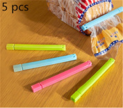 Interesting 5pcs Sealing Clips Food Snack Storage Bag Sealer Clamp Kitchen Essential Tools