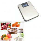 5kg 1g Slim Stainless Steel Digital Scale Electronic Food Kitchen Touch Weight