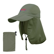 """American Outdoorsman """"The Bait and Tackle"""" Folding Bill Cap w/ Mesh Flap Olive Green"""