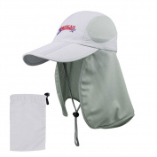 """American Outdoorsman """"The Bait and Tackle"""" Folding Bill Cap w/ Mesh Flap Grey"""