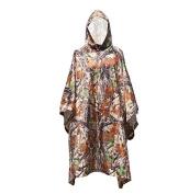 Krayney Rain Poncho Ultra-Lite Ponchos Waterproof Ripstop Hooded US 210T Camouflage Rain Coat for Men Woman