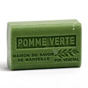 French Soap, Traditional Savon de Marseille - Green Apple (Pomme Vert) 125g