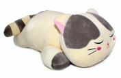Sleeping Cat Hugging Pillow Stuffed Animals Plush Soft Toy Grey 60cm