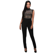 Wensltd Womens Sexy Sleeveless Jumpsuit Casual Ladies Clothes