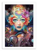 Art-Poster - 50 x 70 cm - know higher worlds - alex tooth