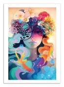 Art-Poster - 50 x 70 cm - fleur - alex tooth