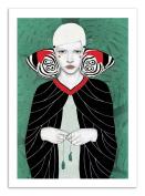 Art-Poster - 50 x 70 cm - Butterfly Girl - fanni by sofia bonati