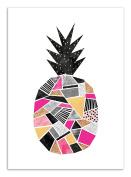 Art-Poster - 50 x 70 cm - Graphic Design Ananas - pretty pineapple by elisabeth fredriksson
