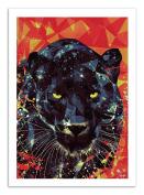Art-Poster - 50 x 70 cm - Graphic Design Black Panther - Mayka Ienova