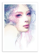 Art-Poster - 50 x 70 cm - woman and flowers poetic portrait - urchin by anna dittmann ...