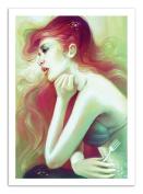 Art-Poster - 50 x 70 cm - Fan-Art little mermaid - out of the sea by anna dittmann ...