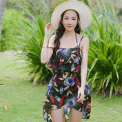 ZHANGYONG*The particles of steel and swimming costume, sexy skirted bikini 3 piece spa swimsuit black poverty smock ,L, Army Green