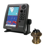 SI-TEX SVS-760CF Dual Frequency Chartplotter/Sounder w/ Navionics+ Flexible Coverage & Bronze 20 Degree Transducer
