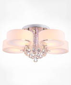 Crystal Glass Ceiling Lamps Modern Simplicity Living Room With Dining Room LED Ceiling Light 3 Lights, 5 Lights And 7 Lights
