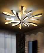 Acrylic Ceiling Lamps Personality Creative Restaurant Living Room Bedroom LED Ceiling Light With Light Source 3 Lights, 5 Lights And 9 Lights Dimmable