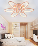 Crystal Ceiling Lamps Modern Simplicity Bedroom Restaurant Living Room LED Iron Ceiling Light 6 Lights With Light Source