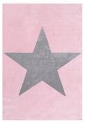 Rug Star Children Happy Rugs Pink/Grey 80x150 cm