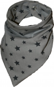 Tooth Stars Grey Waterproof Head Scarf