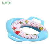 Luerme Baby Kids Comfortable Sponge Padded Potty Toilet Training Seat with Safety Handles