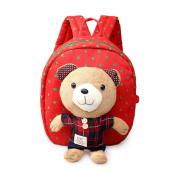 Aosbos Child Backpack Toddler Backpack Safety Harness with Rein Kids School Bag Detachable Bear Toy