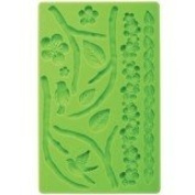 decolordulce Cherry Mould Fondant, Silicone, Green, 24 x 14 x 3 cm