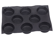 Dltsli Silicone Non-stick Perforated Baking Mat 8 Cavities for 10cm Buns Hamburger Bread Maker Mould Pan Tray