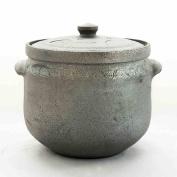 TFguo Casserole Soil Casserole Soup 6L Open Fire High Temperature Black Casserole Health Soup Pot Home Large Capacity Stew Pot