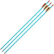 Anglo Arms Unisex Aluminium Bow Arrows (Pack of 3), Blue, 80cm