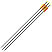 Anglo Arms Unisex Fibreglass Bow Arrows (Pack of 3), Yellow, 80cm
