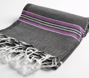 Cacala Paradise Series Turkish Bath Towels, Black
