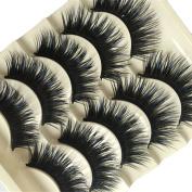 Bluelans® 5 Pair Professional Long Thick Cross Soft Fake Lashes Handmade False Eyelashes Make Up