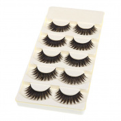 Bluelans® 5 Pairs Black Long Thick False Eyelashes Handmade Extension Makeup Fake Lashes