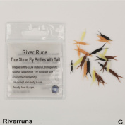 Riverruns Realistic flies Combo Super Realistic Fly Tying Material Combo Pack Legs, Bodies with Tail, for May Fly Nymph, Stone Fly Nymph, Ephemera Danica Nymph, and More, Proudly from North Europe