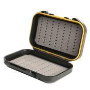 Balai Fly Fishing Box Waterproof Silicone Pocket Storage Slid Foam Insert Hold Capacity Triangle Type