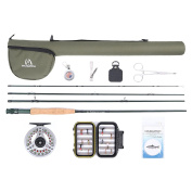 Maxcatch Extreme Fly Fishing Combo Complete Fly Rod Kit 2.7m 5weight