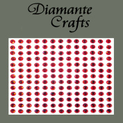 169 x 4mm Red Diamante Self Adhesive Rhinestone Body Vajazzle Gems - created exclusively for Diamante Crafts