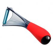 Silicone Gold sg3116 Vegetable Peeler, Acrylic, Red, 20 x 12 x 5 cm