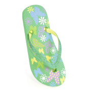 GIRLS BUTTERFLY FLOWER FLIP FLOP WITH GLITTER STRAP