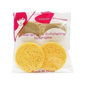 Beauty Essentials Ladies Cleaning And Exfoliating Facial Sponges by Beauty Essentials