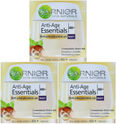 3 x 50ml Garnier Anti-Age Essentials 40+ Night Cream - Anti Wrinkle Care