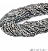 Select Your 33cm Gemstone Rondelle Beads. wholesale price. Exclusively by GemMartUSA - MYSTIQUE LABRADORITE