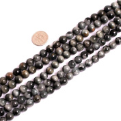 SHG Store Round Natural Hawkeye Gemstone Loose Beads Strand 15 Inch Beads Jewellery Making Beads