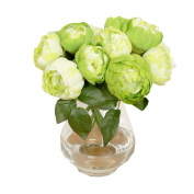 Outtop 6 Heads 28cm Chrysanthemum Artificial Flowers Bouquets Real Touch Fake Flower for Home and Wedding Decoration 7 Pcs